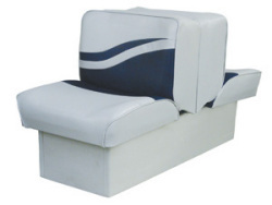 Back-to-Back Lounge Seat Weekender Series, Gray-Navy - Wise Boat Seats