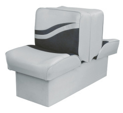 Back-to-Back Lounge Seat Weekender Series, Gray-Charcoal - Wise Boat Seats