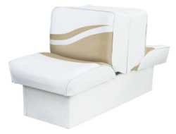 Back-to-Back Lounge Seat Weekender Series, White-Sand - Wise Boat Seats