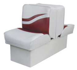 Back-to-Back Lounge Seat Weekender Series, Gray-Red - Wise Boat Seats