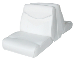 Bayliner Capri and Classic Back-to-Back Lounge Seat, White - Wise Boat Seats
