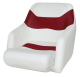 Bucket Seat 1205 with Arms and Flip-Up Bolster, Brite White-Dark Red - Wise Boat Seats