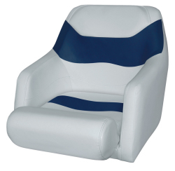 Bucket Seat 1205 with Arms and Flip-Up Bolster, Marble-Midnite Blue - Wise Boat Seats