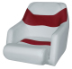 Bucket Seat 1205 with Arms and Flip-Up Bolster, Marble-Dark Red - Wise Boat Seats