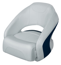 Bucket Seat 1217 with Flip-Up Bolster, Marble-Midnite Blue - Wise Boat Seats