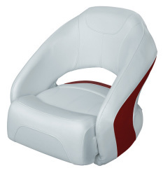 Bucket Seat 1217 with Flip-Up Bolster, Marble-Dark Red - Wise Boat Seats