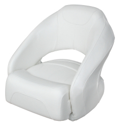 Bucket Seat 1217 with Flip-Up Bolster, White - Wise Boat Seats