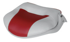 Pro-Verzion Tour Casting Seat, Gray-Accent Red - Wise Boat Seats