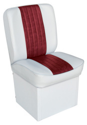 Jump Seat Deluxe Runner, White-Red - Wise Boat Seats