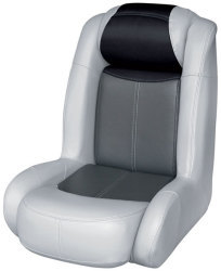 Blast-Off Tour Series High Back Bass Bucket Seat, Gray-Charcoal-Black - Wise Boat Seats