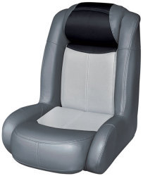 Blast-Off Tour Series High Back Bass Bucket Seat, Charcoal-Gray-Black - Wise Boat Seats