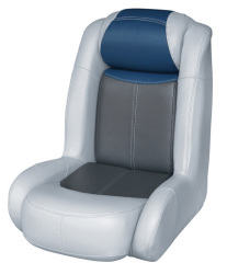 Blast-Off Tour Series High Back Bass Bucket Seat, Gray-Charcoal-Navy - Wise Boat Seats
