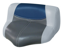 Blast-Off Tour Series Pro Casting Seat Pro-Lean Design, Gray-Charcoal-Navy - Wise Boat Seats