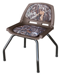 Hunting Blind Folding Plastic Seat with Stand, Camouflage Advantage Max 4 - Wise Boat Seats