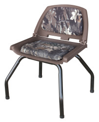 Hunting Blind Folding Plastic Seat with Stand, Camouflage Mossy Oak Break Up - Wise Boat Seats