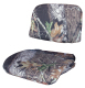Replacement 2 Piece Snap-On Cushion Set, Camouflage Mossy Oak Break Up - Wise Boat Seats