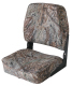 Camo Low Back Fold-Down Hunting & Fishing Seat, Camouflage Mossy Oak Duck Blind - Wise Boat Seats