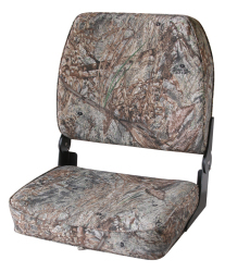 Camo Big Man Fold-Down Hunting & Fishing Seat, Camouflage Mossy Oak Duck Blind - Wise Boat Seats