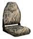 Camo Mid-Back Fold Down Seat with Contured Foam, Camouflage Mossy Oak Shadow Grass - Wise Boat Seats