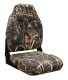 Camo Mid-Back Fold Down Seat with Contured Foam, Camouflage Advantage Max 4 - Wise Boat Seats
