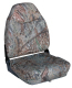 Camo Mid-Back Fold Down Seat with Contured Foam, Camouflage Mossy Oak Duck Blind - Wise Boat Seats