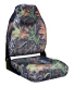 Camo Mid-Back Fold Down Seat with Contured Foam, Camouflage Mossy Oak Break Up - Wise Boat Seats