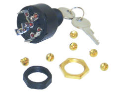 Ignition Switch, OFF-RUN-START, 6 Screw Tab, Push to Choke, 11-MP41000 - MarineWorks