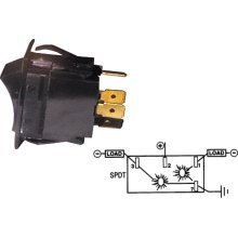 Illuminated Rocker Switch, ON-OFF-ON-SPDT, 5 - MarineWorks