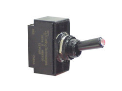 Toggle Switch with Tip Light, ON-OFF-ON-SPDT, 5 - MarineWorks