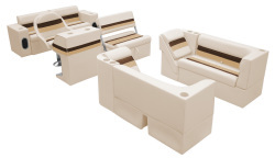 Deluxe Pontoon Complete Boat Group E, Sand-Chestnut-Gold - Wise Boat Seats