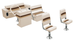 Deluxe Pontoon Complete Boat Group B, Sand-Chestnut-Gold - Wise Boat Seats