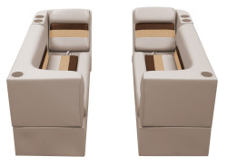 Deluxe Pontoon Front Group B, Sand-Chestnut-Gold - Wise Boat Seats