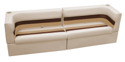 Deluxe Pontoon Rear Group A, Sand-Chestnut-Gold - Wise Boat Seats