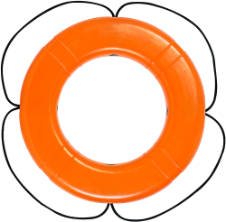 "Ring Buoy, 30"", Orange, SOLAS Approved - Taylor Made"