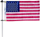 Flag Pole with Charlevoix Flag Clips