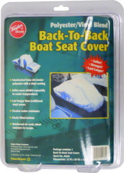 Lounge Seat Cover (ea.) White Vinyl - Taylor Made