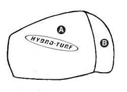 Part B - Kawasaki JS300, JS440, JS550 PWC Chin Pad Cover - Hydro-Turf