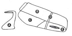 Part E - Kawasaki ZXi 1100 1998-2003 PWC Seat & Cowling Cover - Hydro-Turf