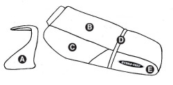 Part C - Kawasaki ZXi 1100 1998-2003 PWC Seat & Cowling Cover - Hydro-Turf