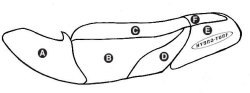 Part B - Kawasaki 1100STX 1998-1999 PWC Seat Cover - Hydro-Turf