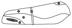 Part A - Kawasaki ST, STS, STX 750 & 900 Pre 1999 PWC Seat Cover - Hydro-Turf