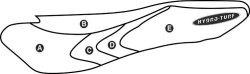 Part C - Kawasaki 1200STX-R 2002-2005, STX-F 2003-2005, 1100STX DI 2000-2001, 900STX 2006 PWC Seat Cover - Hydro-Turf