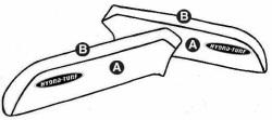 Part A - Kawasaki 650SX PWC Seat Cover - Hydro-Turf