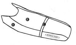 Part C - Kawasaki 750SS, Xi PWC Seat Cover - Hydro-Turf