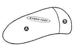 Part B - Kawasaki 800 SX-R PWC Chin Pad Cover - Hydro-Turf