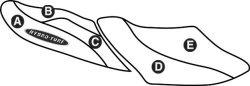 Part B - Yamaha XLT1200 2001-2005, XLT800 2002-2004 PWC Seat Cover - Hydro-Turf