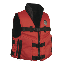 Mustang Accel 100 Fishing Vest - Red/Black - Large - Mustang Survival