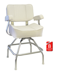 Deluxe White Captains Seat and Stand Package - Springfield Marine