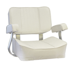 Deluxe White Captains Seat - Springfield Marine