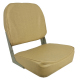 Low-Back Folding Seat, Tan - Springfield Marine